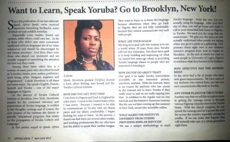 US Africa Journal FeatureI