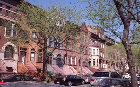 Crown Heights, known for its striking architecture and not intimate relationships with neighbors.