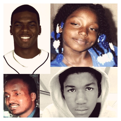 Sean Bell, Aiyana Jones, Amadou Diallo, Trayvon Martin. Victims of Police Brutality & Racism